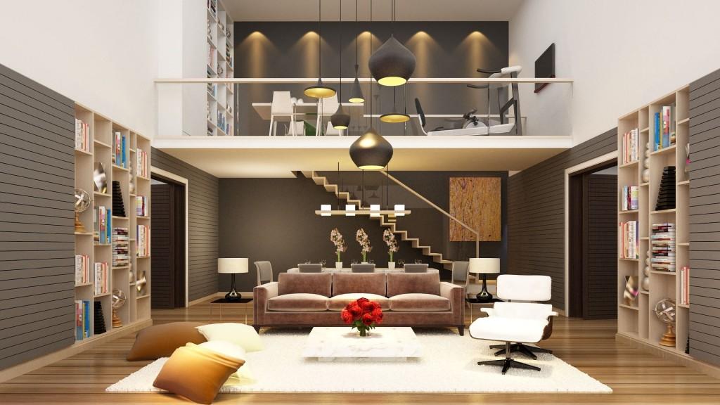 3D Living Room Progress Interior Design phuket